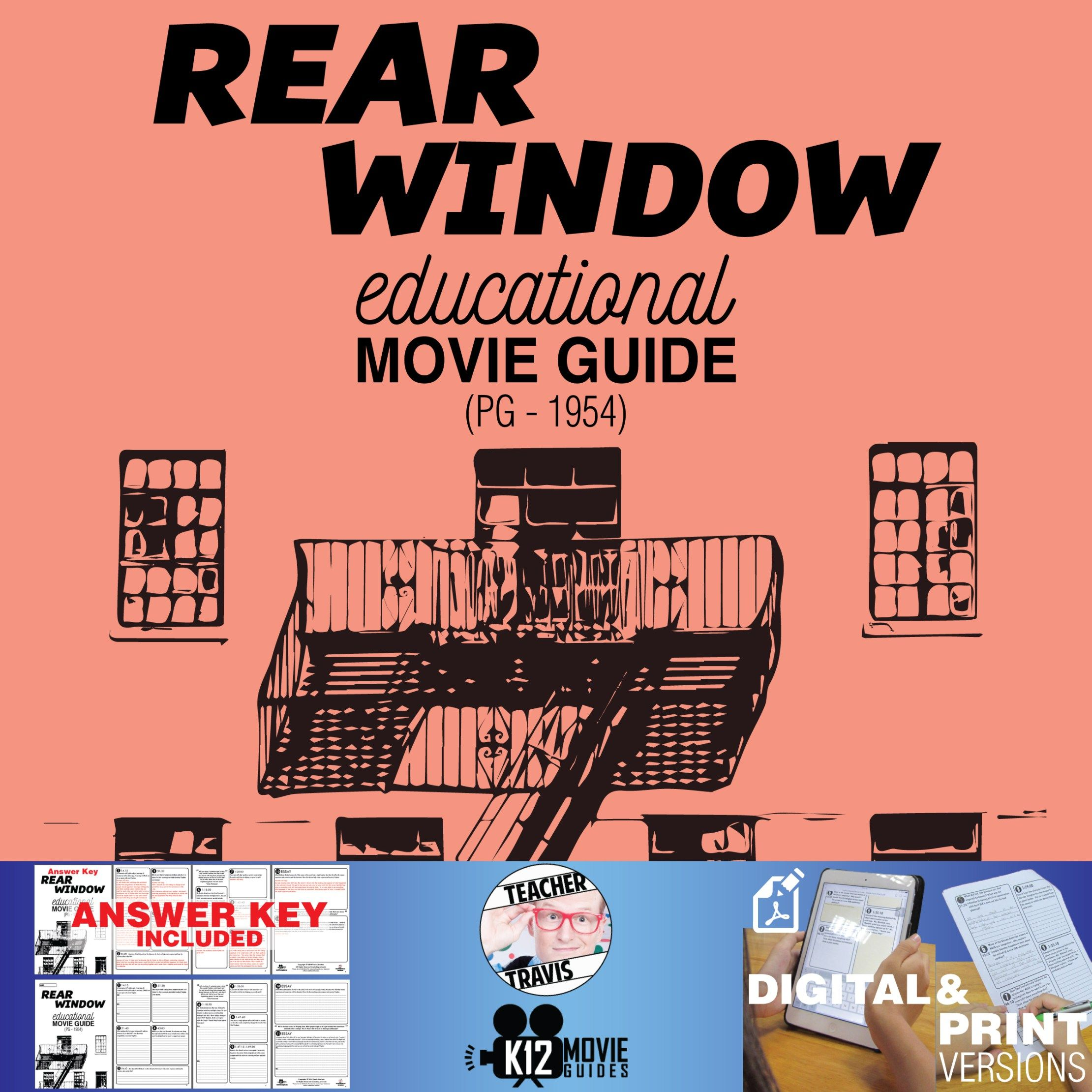 Rear Window Movie Guide Questions Worksheet Pg