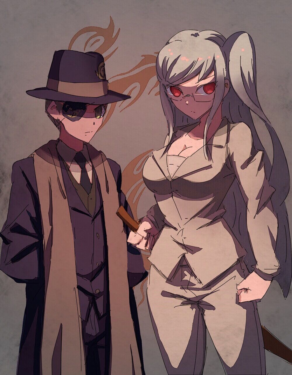 Ultimate Despair Fuyuhiko Kuzuryu And Peko Pekoyama | Danganronpa