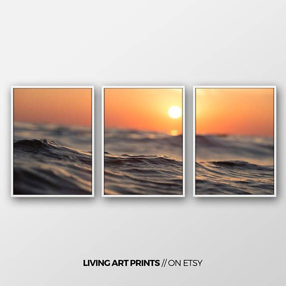 Set von 3 Drucke/ Wandbild/ Ozeandruck/ foto/ Natur Druck/ Kunst