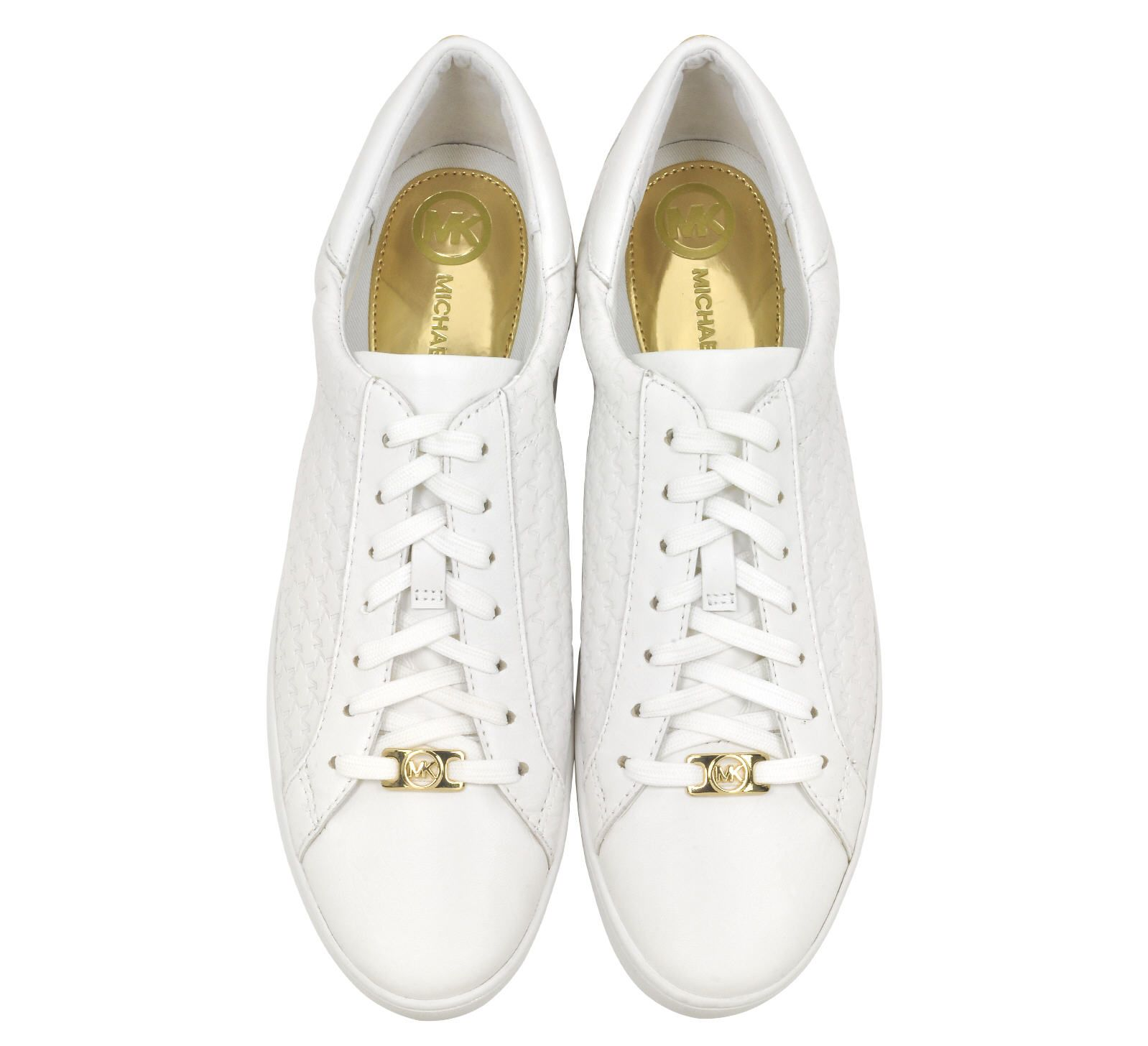 51f2adfcf63 Baskets en cuir blanc Colby Michael Kors avec logo en relief prix promo Baskets  Femme 140