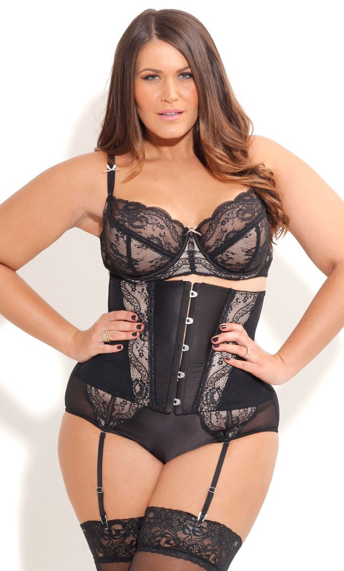 093c5619a7 City Chic - SOPHIE CINCHER - Women s Plus Size Fashion - Lingerie -  Intimates - Bra - Panties - Cincher - Suspender Skirt