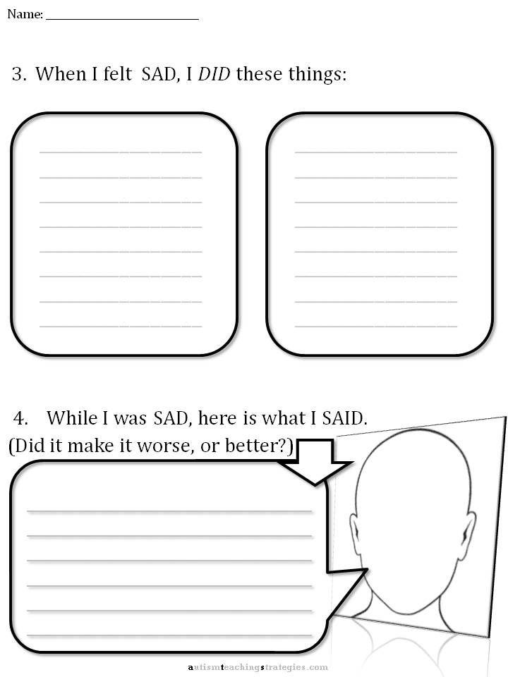 Cbt Worksheets For Teens: CBT Children\'s Emotion Worksheet Series 7 ...