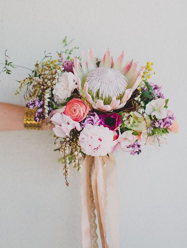 DIY King Protea Spring Bouquet | Spring, Seasonal flowers and ...