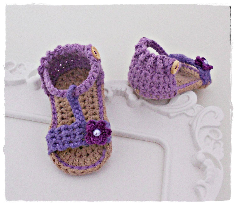 Pin de L\'Tanya Jackson en Crochet Baby Sandals and Barefoot Sandals ...