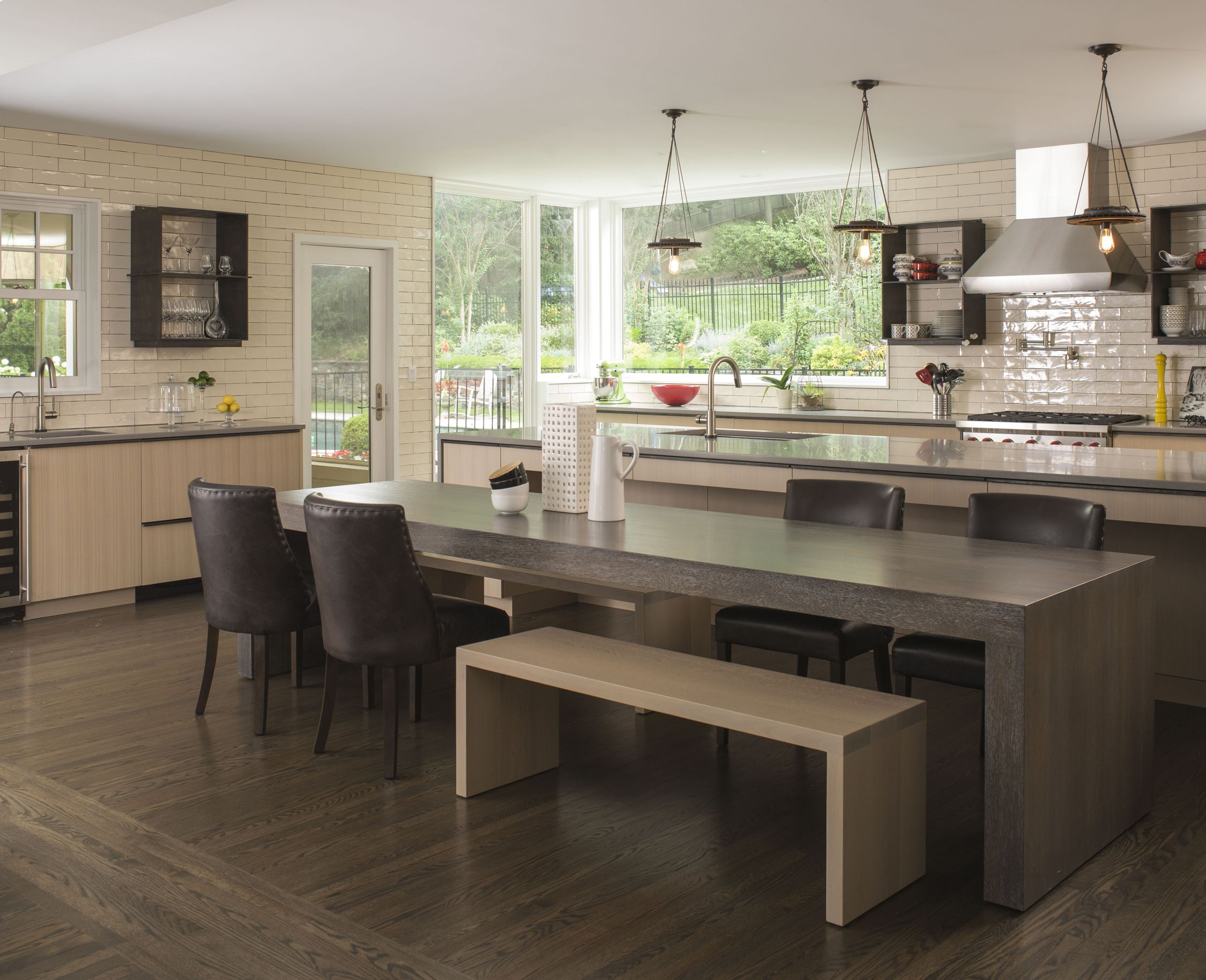 a contemporary kitchen that includes an island with a movable hidden table when the 11 table on kitchen interior table id=49721