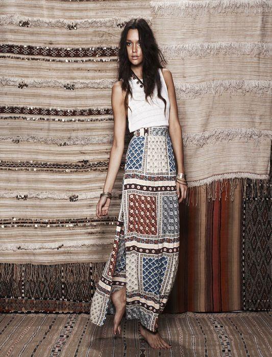 31971b2e32 tigerlily harem print maxi skirt | dress in 2019 | Printed maxi ...