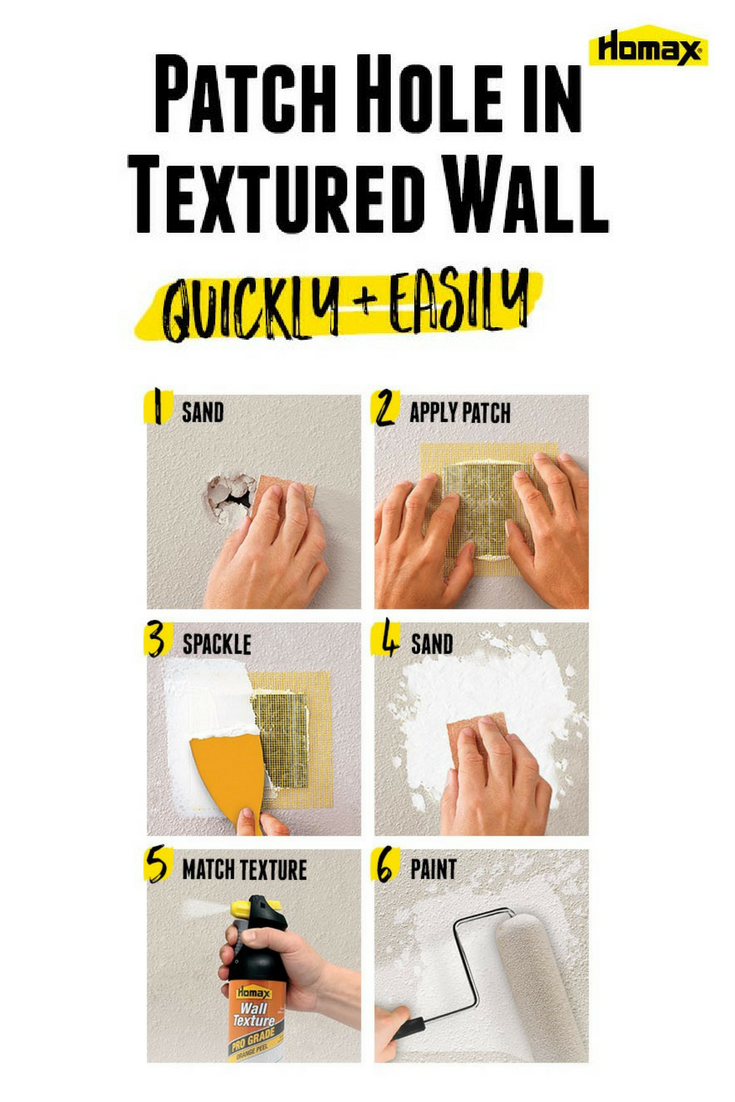 How to repair nail holes in textured drywall