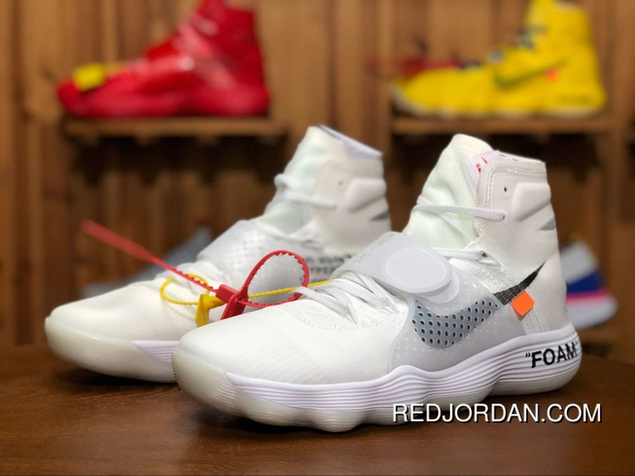 """a537777bb28 Off-White X Nike REACT Hyperdunk 2017 Flyknit """"Triple White"""" GHOSTING AJ4578 -"""