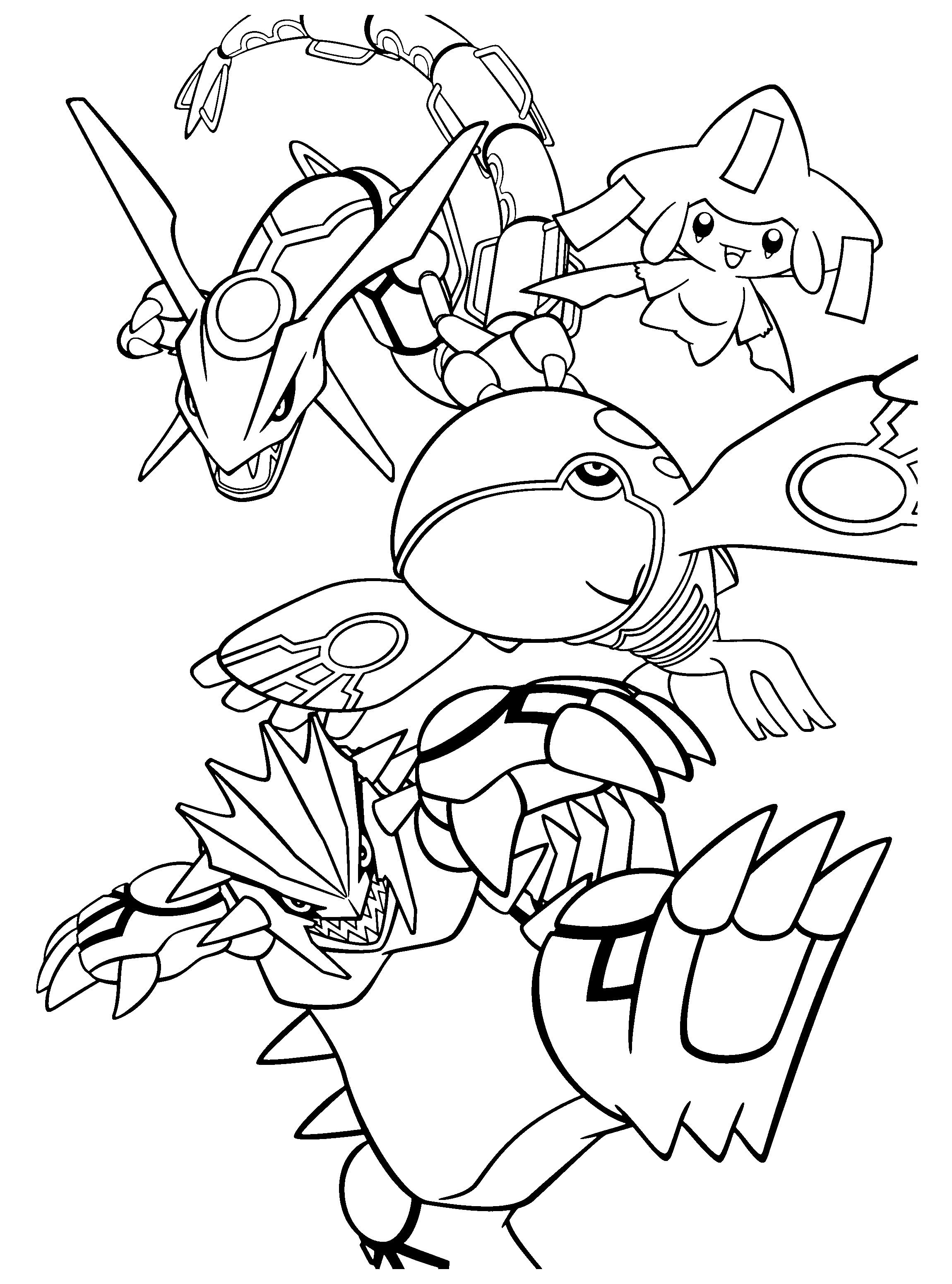 Pokemon Coloring Pages Groudon and Kyogre Pokemon