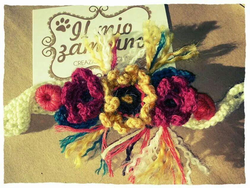 I miei lavori, bracciale tutta lana. Www.facebook.com/ilmiozampino