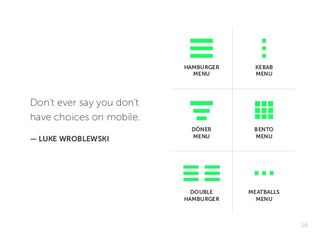 Hamburgerless On Creative Mobile Navigation 16 638 Jpg 638 479 Hamburger Menu App Design Me On A Map