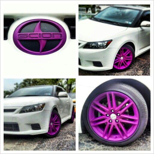 Pin By Jordan Carter On Dipped Customz Scion Tc Scion Purple Car