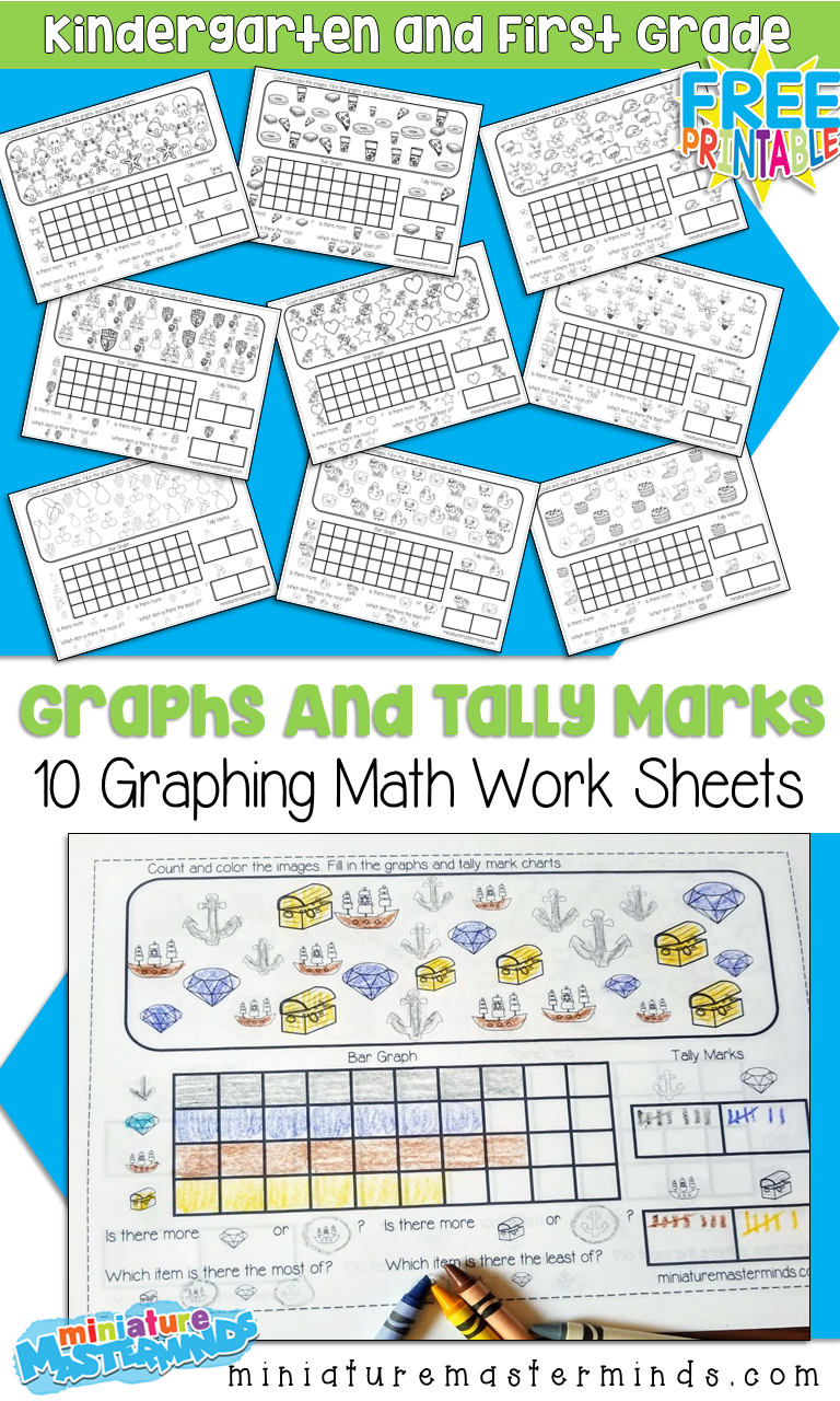 Predownload: 10 Free Printable Graphing Worksheets For Kindergarten And First Grade Graphing Kindergarten Graphing Worksheets Graphing First Grade [ 1280 x 768 Pixel ]