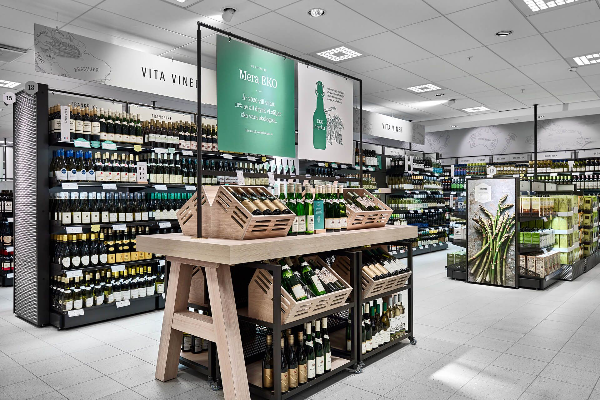 Systembolaget Supermarket Design Retail Interior Grocery Store Design