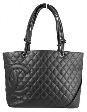 1b24edd472b6 ShopStyle.com: excellent (EX) Chanel Black Quilted Calfskin CC Cambon Large  Shopper Bag $1,199.00