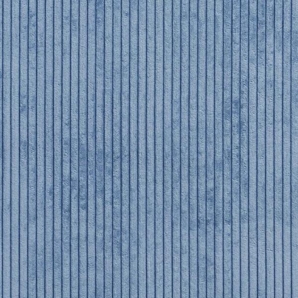 B0700C Blue Corduroy Striped Soft Velvet Upholstery Fabric