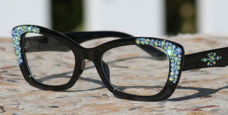 Clear Lens Glasses, Vintage Style Eyeglasses, Bling Eyewear, Boho ...