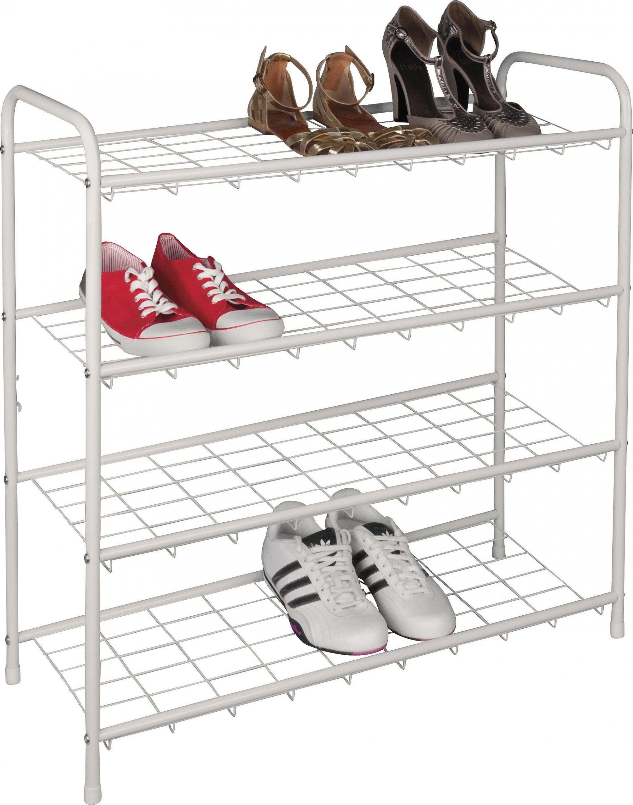 Argos Home 4 Shelf Shoe Storage Rack White In 2020 Shoe