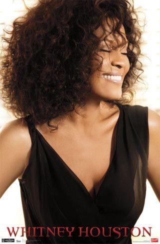 Whitney Houston - Smiles Poster #artprints