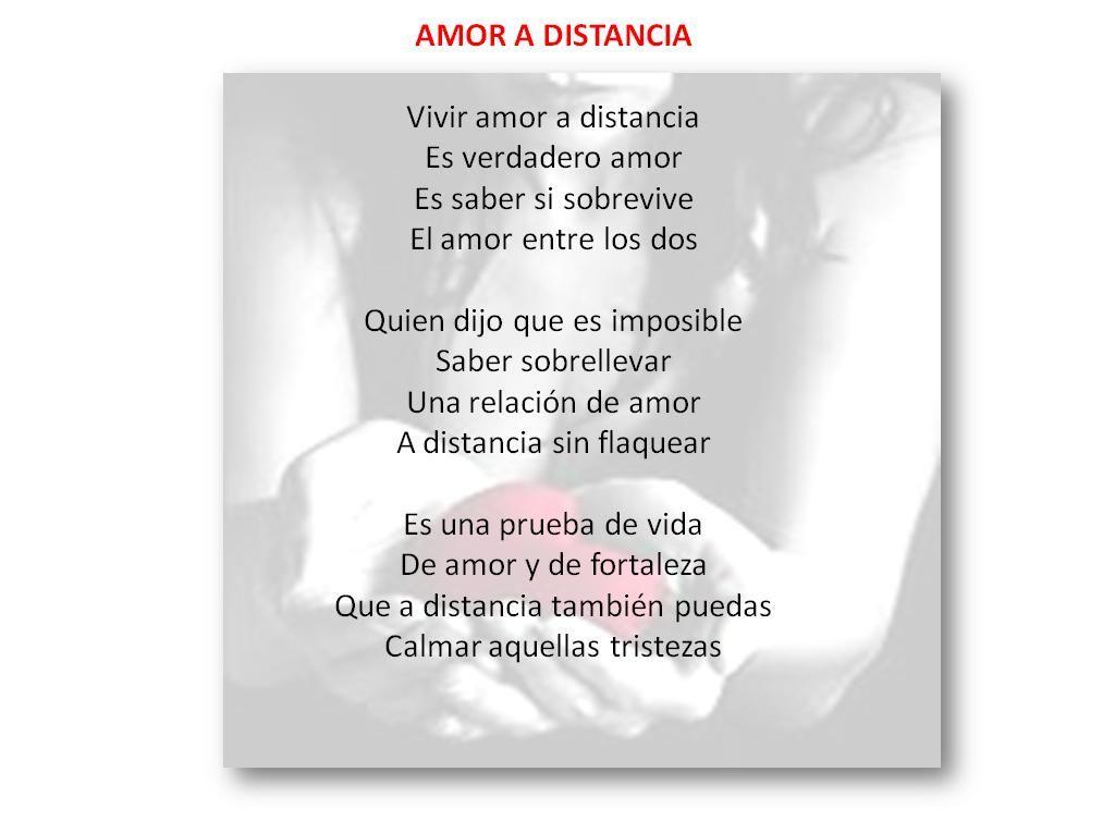 Poemas De Amor A Distancia Cortos