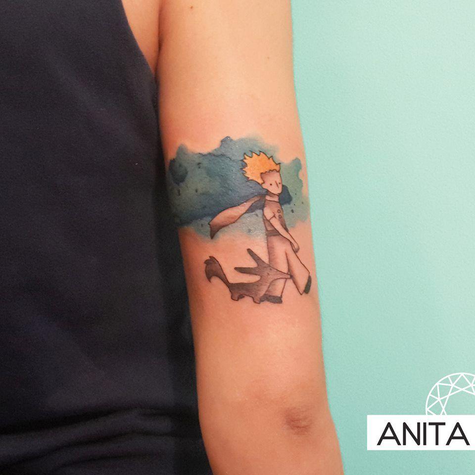 El principito #principitotattoo #watercolor #elprincipito #tatuaje #iristattoo…