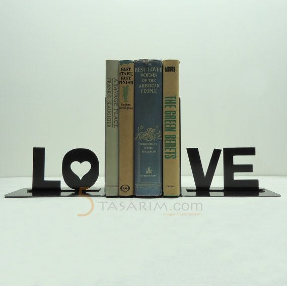 dekoratif kitap tutucu