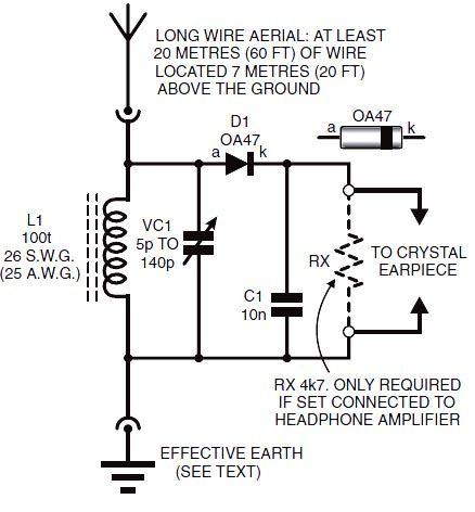 Radio Sch Radio Crystal Set Electronics Circuit