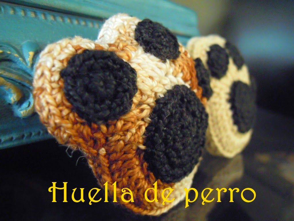 My crochet bubble: ¡Huella perruna!