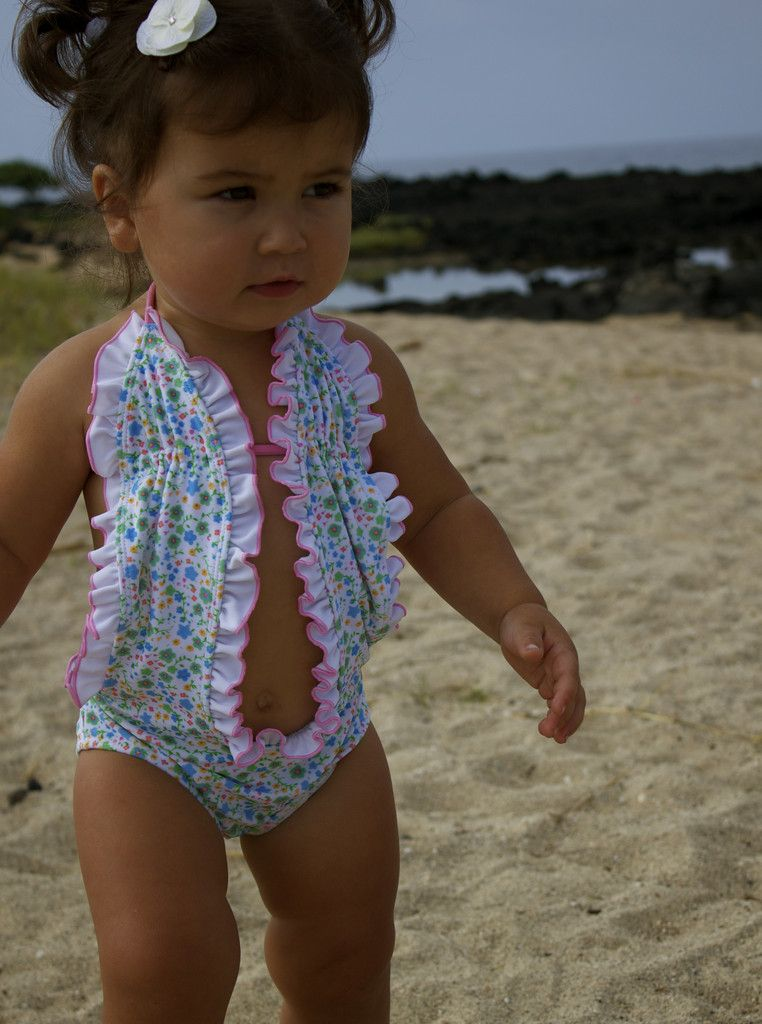 a792edc259 If I ever have a baby girl, this WILL be her swimming suit - soo cute!