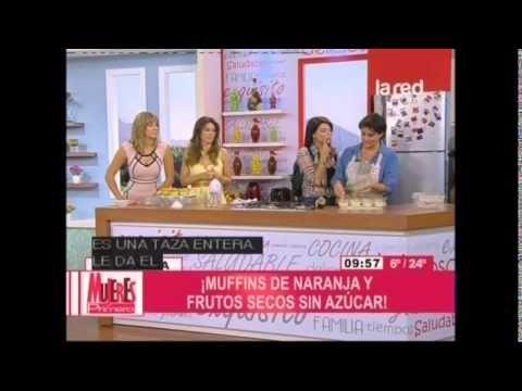 Receta: Muffins de naranja y frutos secos sin azúcar