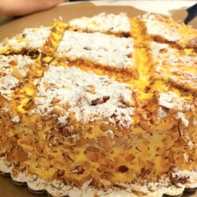 Burnt Almond Cake From S Bakery San Jose Ca