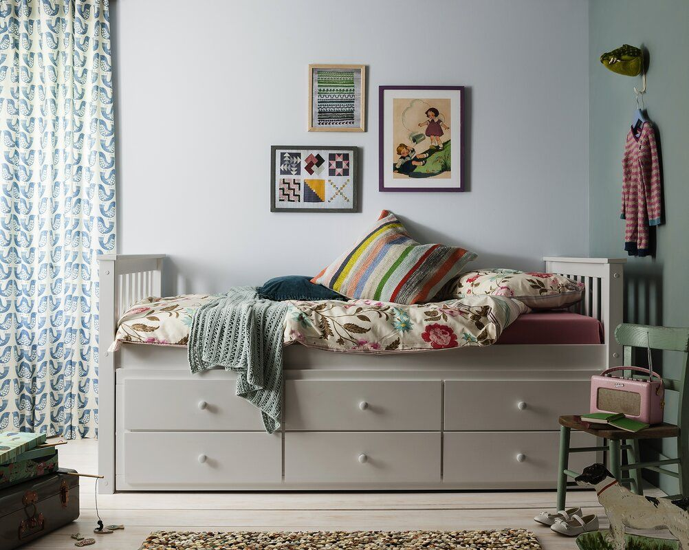Loki Daybed with Trundle Trundle bed with storage