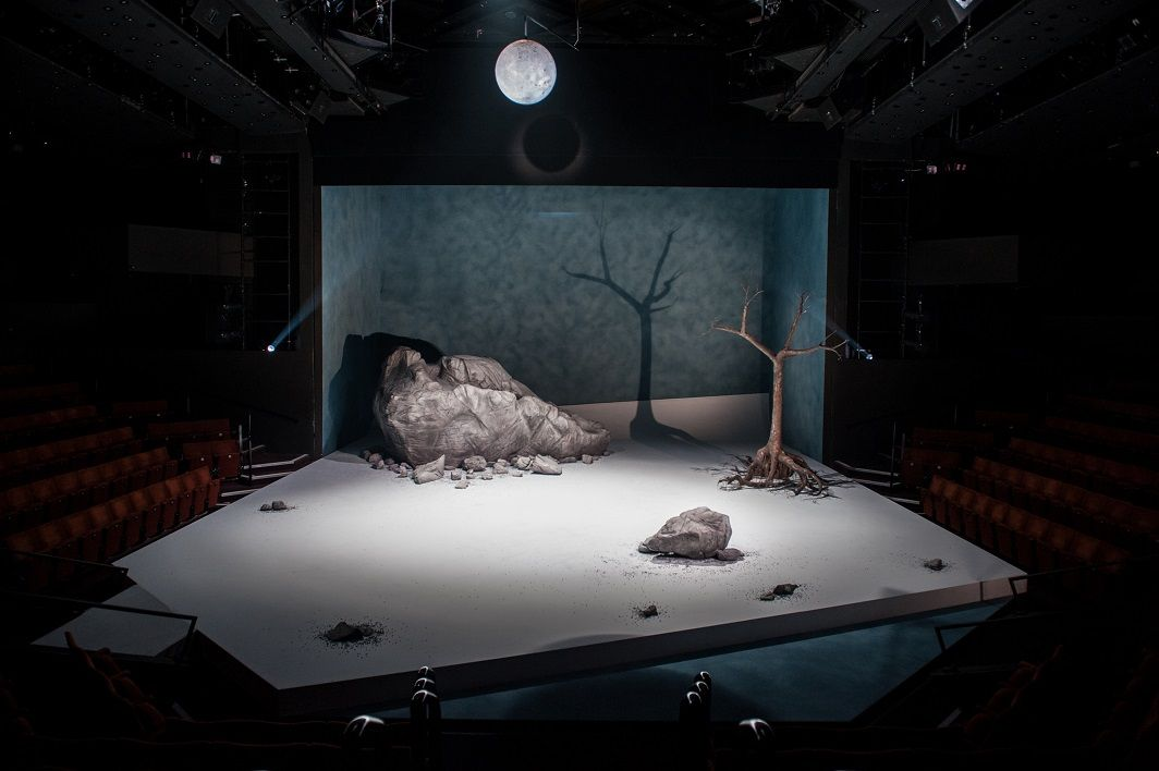 Waiting For Godot. Sheffield Crucible. Scenic design by Simon Daw. #RePin by AT Social Media Marketing - Pinterest Marketing Specialists ATSocialMedia.co.uk