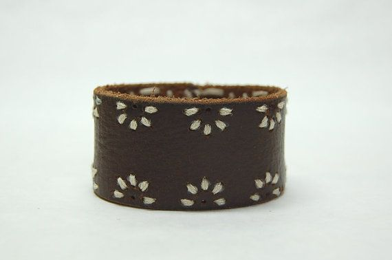 Leather Cuff Bracelet Leather Wrist Cuff by GallimaufryClothing, $12.00