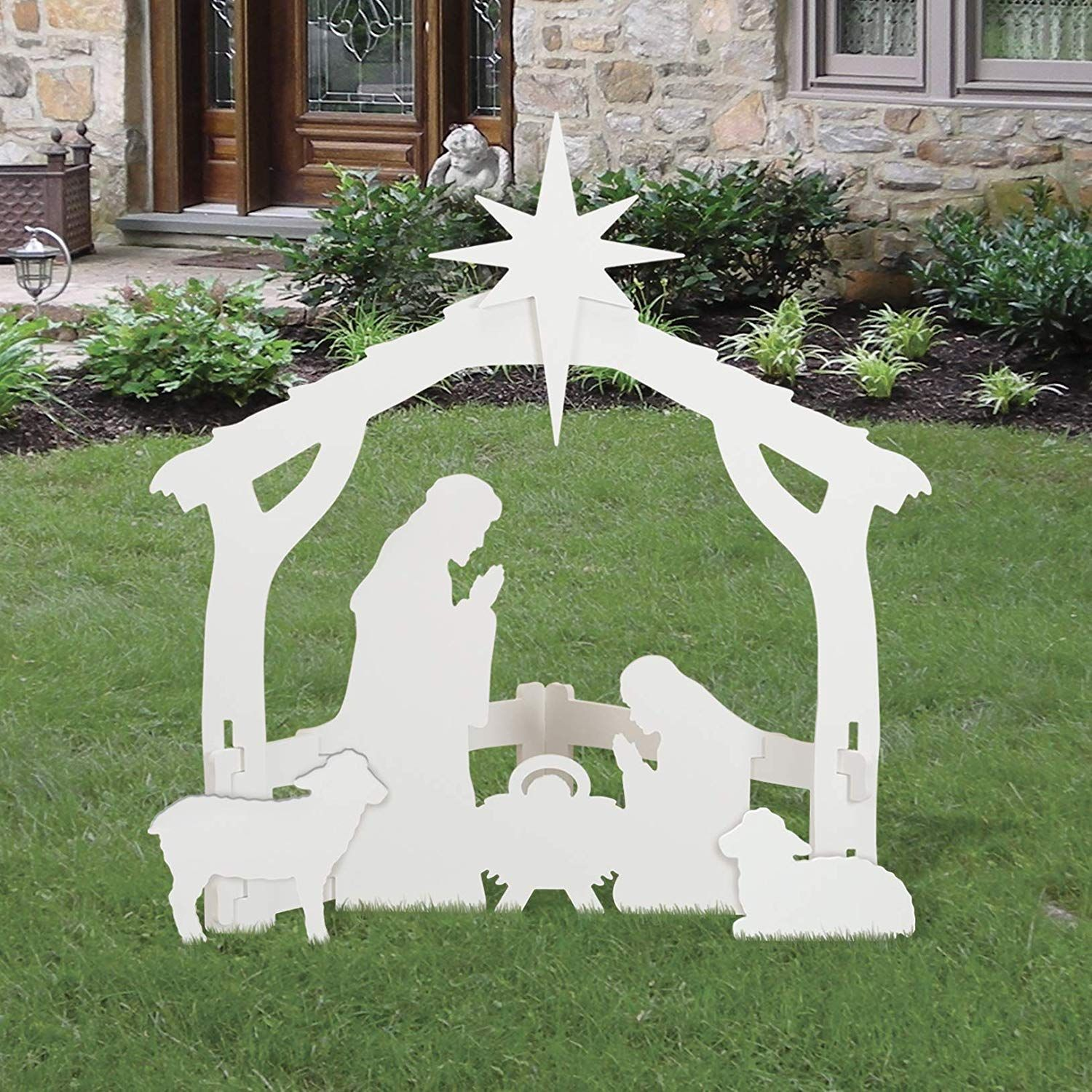 Outdoor White Nativity Set Want To Know More Click On The