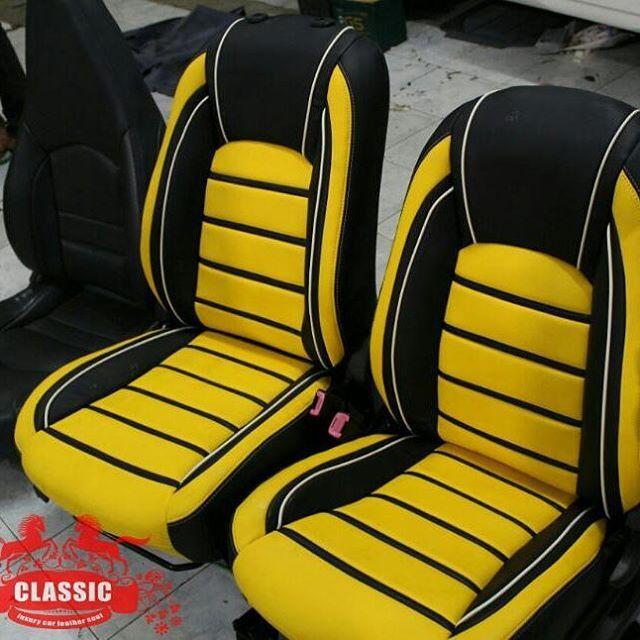 Peachy Classic Leather Seat Black Yellow White Custom Seats Lamtechconsult Wood Chair Design Ideas Lamtechconsultcom