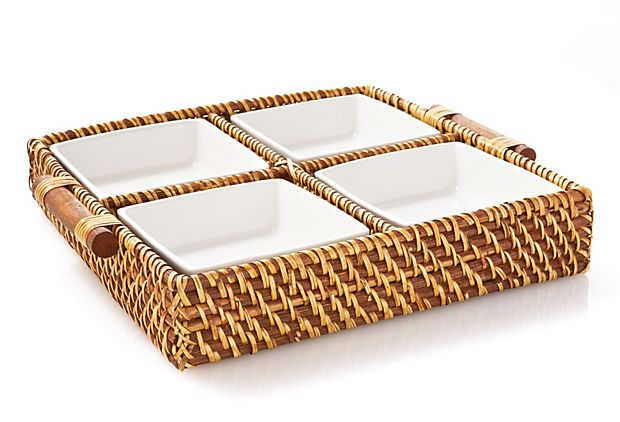 Caribbean Square 4-Section Tray on OneKingsLane.com