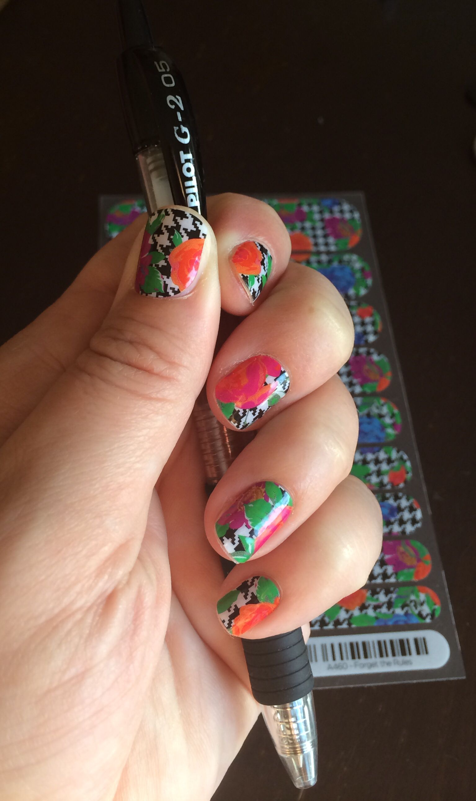 Jamberry nails Houndstooth Floral Forget the Rules http ...