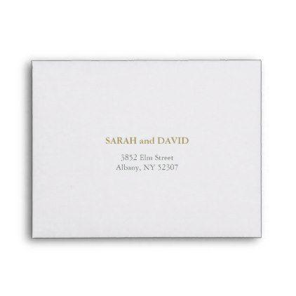 Simple Chic And Elegant Wedding Rsvp Envelope Envelopes Custom Unique Diy Cyo Personalize Idea