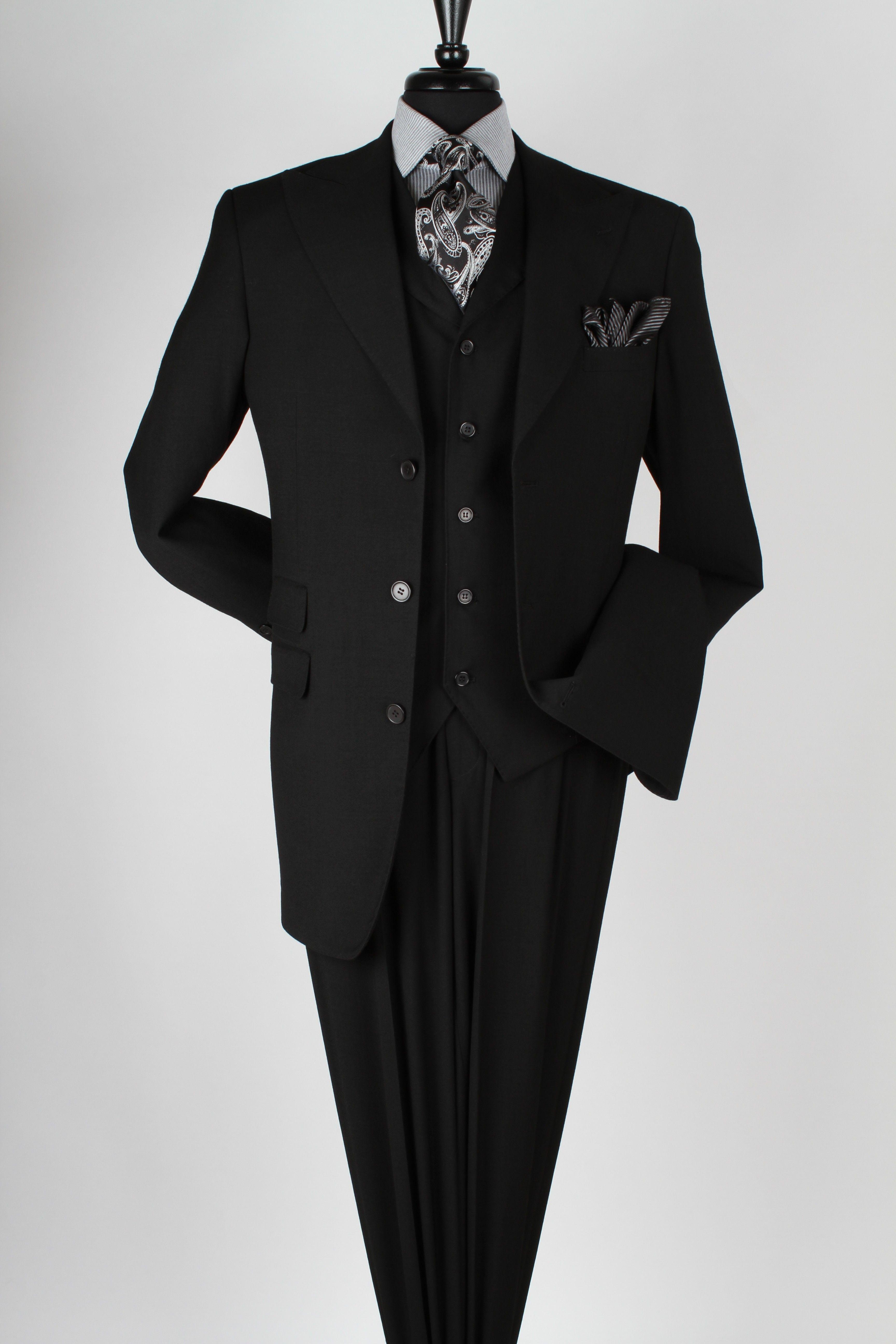 b715da58dedc Royal Diamond Men s 3pc 100% Wool Super 150 s Suit - Wide Leg Pants ...