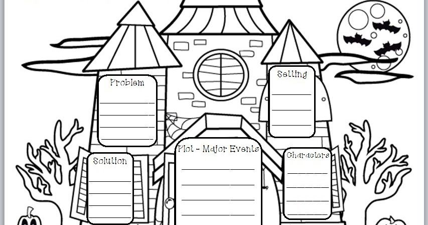 Halloween-Themed Graphic Organizer for Story Elements