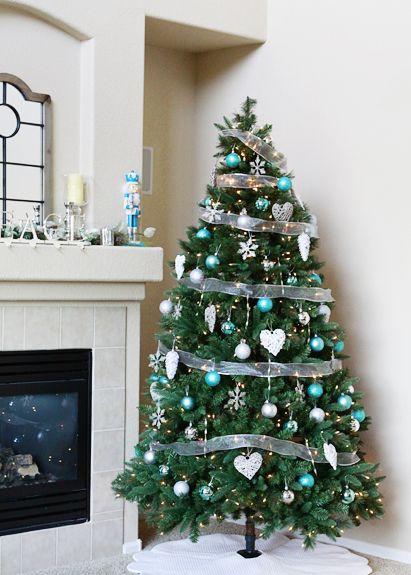 Christmas Decorations Ideas 2012 silver and aqua christmas decoration ideas – our christmas decor
