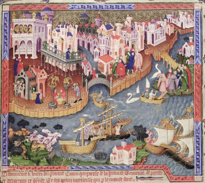Venice, 1338 (from a manuscript in the Bodleian Library)
