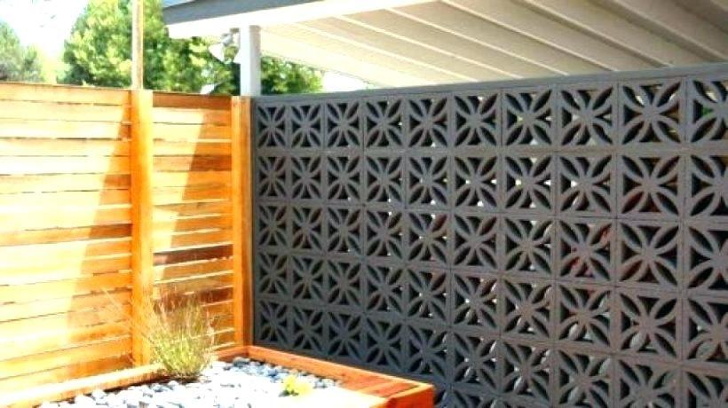 Concrete Screen Wall Blocks Decoration Ideas Decorative Concrete