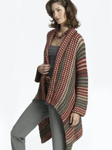 Asymmetrical Jacket Yarn Free Knitting Patterns Crochet