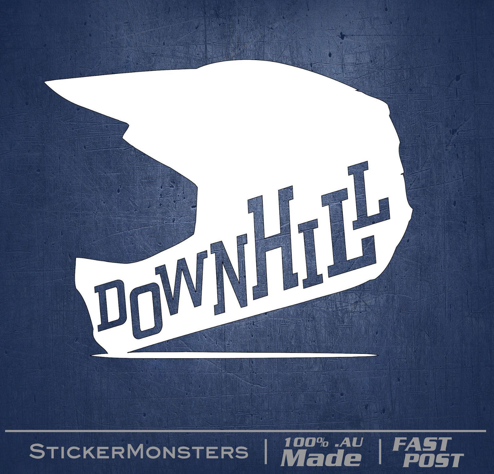 649 aud downhill trails mtb sticker decal 130mmw