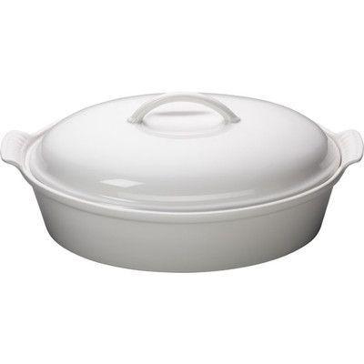 Le Creuset Stoneware 4 Qt. Oval Casserole Color: White