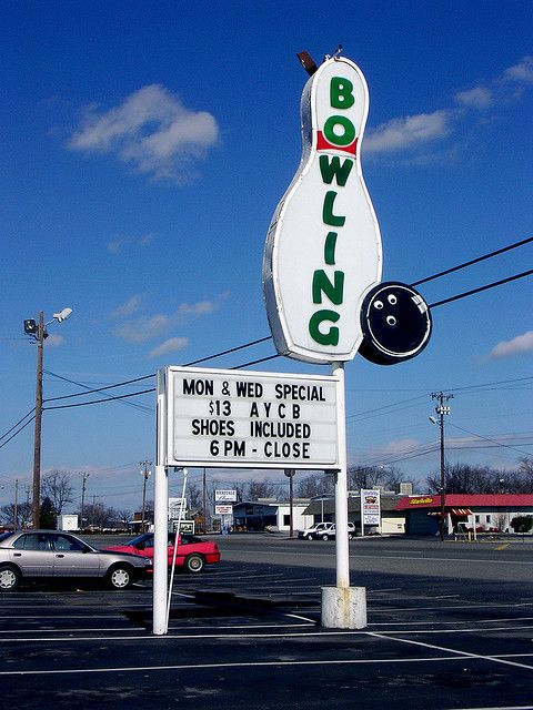 Bowling Sign Bowling Hometown Murfreesboro