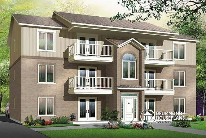 House plan W3036 by drummondhouseplans Projects to Try
