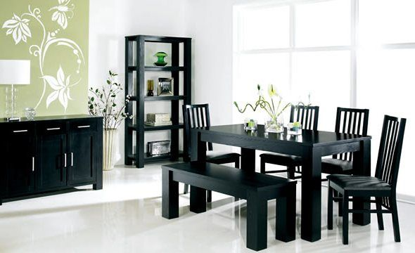 cool Lovely Black Dining Room Table Set 38 In Home Decoration ...